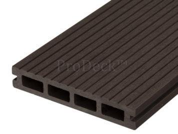 Vlonderplank • composiet • koffiebruin • 400x15x2,5 cm • smalribbel