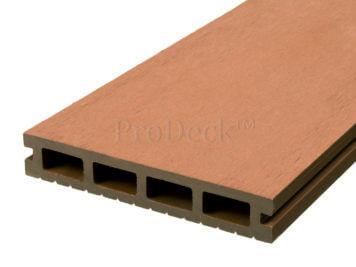 Vlonderplank • composiet • naturelbruin • 220x15x2,5 cm • egaal • OP = OP