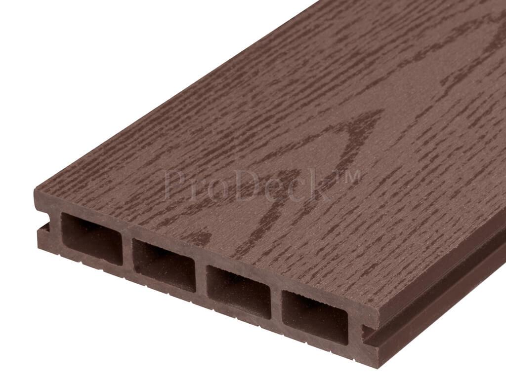 Composiet • vlonderplank • oudbruin • houtnerf