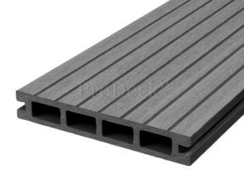 Vlonderplank • composiet • steengrijs • 220x15x2,5 cm • breedribbel