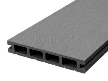 Vlonderplank • composiet • steengrijs • 220x15x2,5 cm • egaal