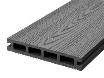 Vlonderplank • composiet • steengrijs • 220x15x2,5 cm • houtnerf