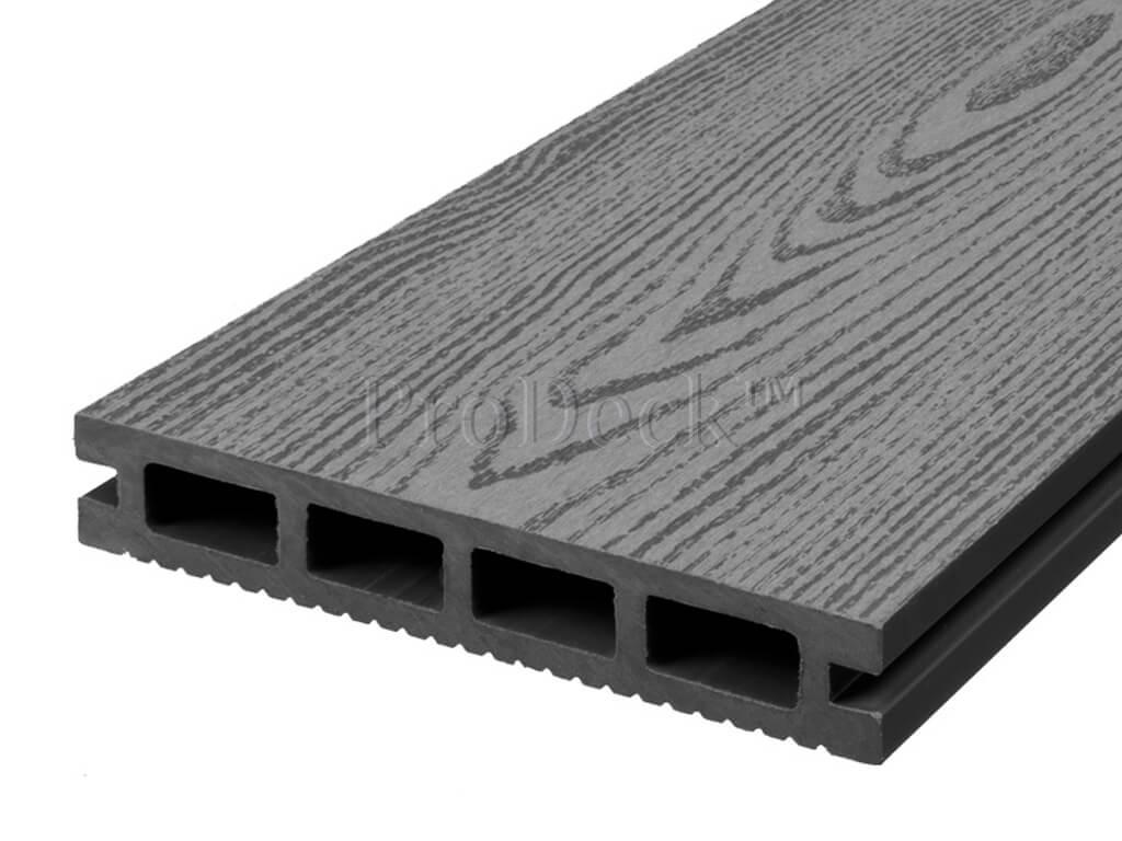 Composiet vlonderplank steengrijs houtnerf