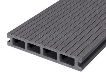 Vlonderplank • composiet • steengrijs • 400x15x2,5 cm • smalribbel