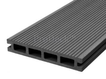 Vlonderplank • composiet • steengrijs • 220x15x2,5 cm • fijnribbel