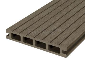 restpartij: Vlonderplank • composiet • oud bruin • breed ribbel • diverse lengtes • ca. 10 m2 incl.clips
