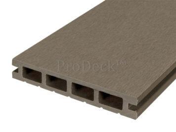 Vlonderplank • composiet • vergrijsd bruin • 400x15x2,5 cm • egaal