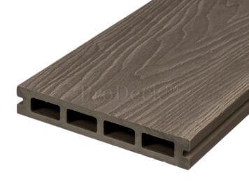 Vlonderplank • composiet • vergrijsdbruin • 220x15x2,5 cm • houtnerfreliëf