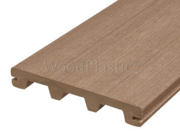 Vlonderplank • massief composiet • teak • Step • 400x16x2,3 cm