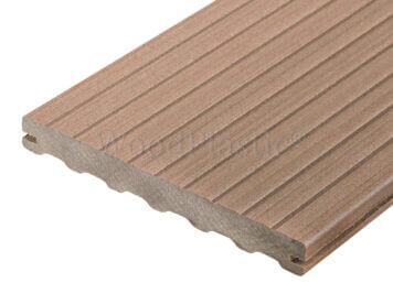 Vlonderplank • massief composiet • teak • 400×19,5×2,2 cm • Max Line