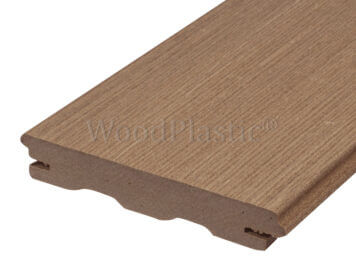 Vlonderplank • massief composiet • teak • Rustic Top • 400x14x2,2 cm • verdekte naad
