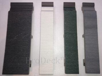 Rabat plank extra hoog • composiet • antraciet • houtnerfreliëf • gelamineerd • 5,90 m