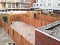 Composiet luxe schutting bruin bruin nieuwbouw meerdere tuinen
