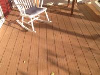Composiet • vlonderplank • bankiraibruin • houtnerf • schommelstoel