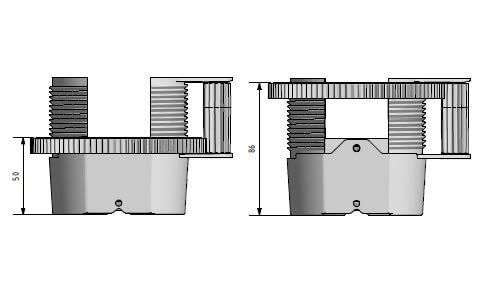Snelbouw balkendrager • aslon professioneel • staal verstevigd • verstelbaar • large • 55-90 mm