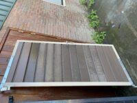 Vergrijsd bruin frame deur